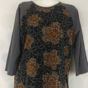LuLaRoe Randy Large Halloween Floral Black Orange